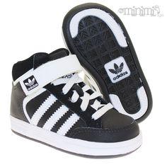 reputable site 312d5 e8c1f Photo Adidas Varial Mid I - Baskets enfant du 19 au 27 - Noir et blanc  minimi kids shoes sneakers fashion swagg