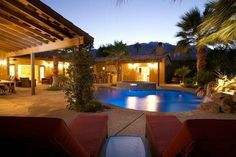 The Jewel of the Desert! Elegant, luxurious and stylish, this upscale Palm Springs vacation rental home has it all, exposed beam ceilings, stylish and comfortable furniture, private pool, fabulous living area and spectacular mountain views.
