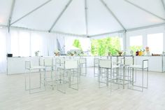 Bar transformed into food station - White bar - Catering - Raise the Bar - Rent this bar for your wedding or event from Marbella Event Furniture and Decor Rental
