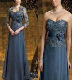 Long Applique Mother Of The Brides Dress Evening Wedding Party Gown Custom Made