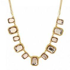 Principles by Ben de Lisi Designer crystal square gold link necklace | Debenhams