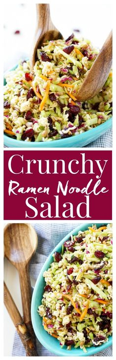 This Crunchy Ramen Noodle Salad is a light and delicious addition to your summer…