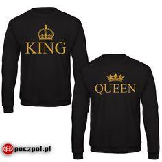Zestaw bluz king i queen z złotym nadrukiem  #king #queen #bluzy #bluza #dlapar #para #dlaniego #dlaniego #instagirl #instaboy #instacouple #poczpol #walentynki #miłość #streetwear #polishgirl #polishboy #król #królowa King Queen, You Look, Most Beautiful Pictures, Streetwear, Told You So, Sweatshirts, Sweaters, Decorations, Wood