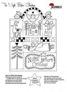 Red Brolly's Night Before Christmas Sampler 1.