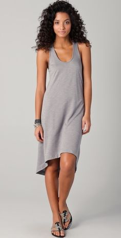 "Lanston Racer Back Circle Dress -- love the outfit....side note: Methinks I found my ""hair-twin"" - score!!"