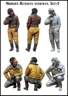 New Modern Russian Tank Crew from Evolution Miniatures. 1/35 scale resin figures now in stock! Click on the pic for more details