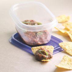 Zesty Bean Dip & Chips