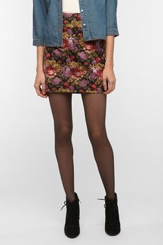 Silence & Noise High-Rise Printed Skirt