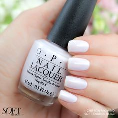 Can't stop thinking about this new sheer white #ChiffonMyMind. #OPISoftShades Shop this shade at Ulta or Macy's