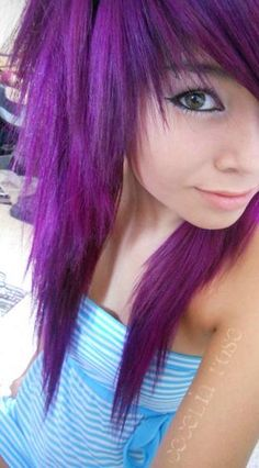 This hair cut reminds me of my friend Mckenzie, i think she would rock this color!