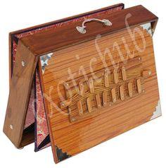 "SHRUTI BOX~TEAK WOOD~BIG SIZE (16"" X 12"" X 3"")~440 Hz~YOGA~MANTRA~BHAJAN~KIRTAN~ #KaaynaMusicals Yoga Mantras, Teak Wood, Size 16, Big, Collection"