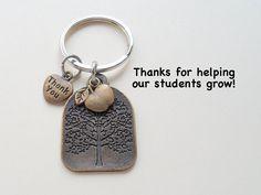 Bronze Tree Keychain - Teacher Appreciation Gift – JewelryEveryday