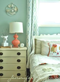 Jennifer Rizzo mini bedroom make over with accessories and color for Fall
