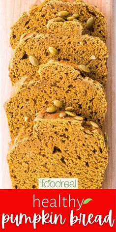 This Healthy Pumpkin Bread is naturally sweetened with honey, made with whole wheat flour and is full of warm cozy spices. It is so moist and fluffy, no one will guess it is healthy. Healthy Pumpkin Bread, Family Meals, Banana Bread, Healthy Snacks, The Best, Snack Recipes, Clean Eating, Spices, Honey