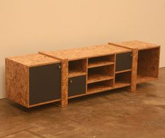 Quebe Tv Unit made from OSB