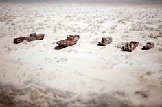 The Aral Sea? Lake? Desert
