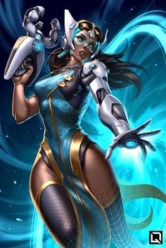 """cyberclays: """" I have opened the path - Overwatch fan art by Drake (Winson) Tsui """"A series of illustrations featuring characters performing their """"Ultimates"""" from Blizzard's Overwatch"""" More from Drake. Overwatch Posters, Overwatch Symmetra, Overwatch Memes, Drake, League Of Legends, Sailor Moon, Game Character, Character Design, Overwatch Wallpapers"""