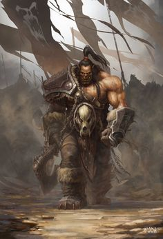 "Grommash ""Grom"" Hellscream - Illustration by Da-Yu 