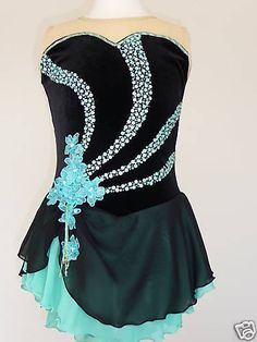 SKATING DRESS - CUSTOM MADE TO FIT This beautiful dress is made to fit your skater's size. It is fully lined and comes with a matching hair scrunchie. You will love this dress; it's so beautiful and incredibly sparkly on the ice. This costume may also be made in a different color if desired.  Please send me  the following measurements including the Girth, Bust, Waist and Hips. Shipping via First Class Mail to USA and Canada is $12.95; eBay My World: skating-on-ice #3064. Item number…