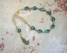 Ran Prayer Bead Bracelet: Norse Goddess of the Sea by HearthfireHandworks on Etsy