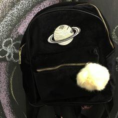 KOKO Saturn VELVET MINI BACKPACK ($30) ❤ liked on Polyvore featuring bags, backpacks, velvet bag, mini rucksack, miniature backpack, mini bag and knapsack bag
