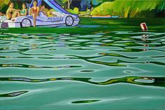 Oil Painting On Canvas, Golf Courses, Police, To Go, Sea, Water, Gripe Water, The Ocean, Ocean