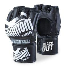 Schwarz Phantom MMA Schienbeinschutz Muay Thai Pro M