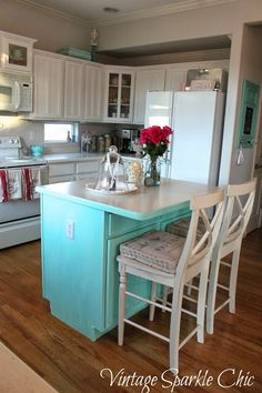Vintage Sparkle Chic: Shabby Kitchen Redo