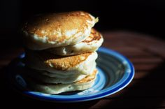 The BEST recipe for FLUFFY, FLUFFY, PANCAKES! No buttermilk required for this pancake recipe! (But check out how moody and artsy they can look! Fluffy Pancakes, Buttermilk Pancakes, Homemade Pancakes, Yummy Pancake Recipe, Pancake Recipes, Great Recipes, Favorite Recipes, Amazing Recipes, Popular Recipes