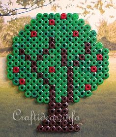 Fuse Beads or Perler Beads Apple Tree