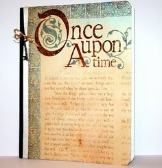 I like to make journals from composition notebooks...this one is so pretty.