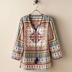 Paisley Mandala Indian Tunic | National Geographic Store