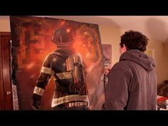 Firefighter Illustration - Painting process - by KIPTOE - YouTube