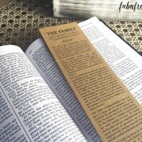 Free Printable Bookmark of
