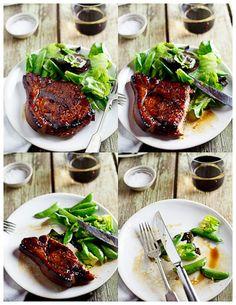 Sticky Honey Soy pork chops
