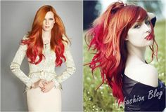 Hair tips and ideas :DIY Color Hair : Light Your Life with Red Ombre Hair Extensions