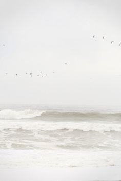 ocean waters on a misty day