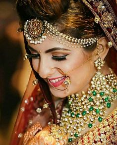 With our new feature, user can wonder posts, photos, Thai Wedding Dress, Pakistani Wedding Dresses, Pakistani Bridal Makeup, Big Fat Indian Wedding, Indian Weddings, Bridal Makeover, Punjabi Bride, Bridal Poses, Indian Bridal Hairstyles