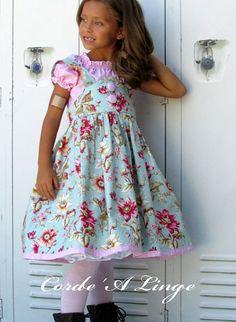 Girls Retro High Waist Skirt and Top Children's by Cordealinge