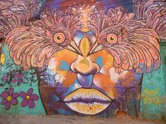 Arte mural, demasiado hipnótico, Valparaíso, Chile