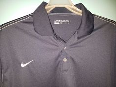 Golf Shirt Nike Mens Short Sleeve Swoosh on Chest Dri Fit XL Aero Fluid Products #Nike #PoloRugby