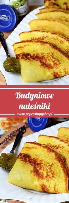 Pudding pancakes – a hit for me, a discovery among all my ost … Tasty Pancakes, Cinnamon Rolls, Crepes, Kiwi, Baked Goods, French Toast, Paleo, Pudding, Baking