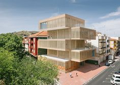 Stacked blocks form Spanish tobacco and art museum