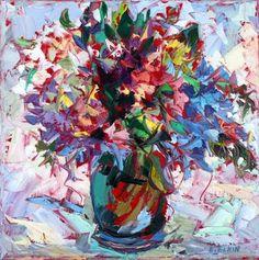 "Saatchi Art Artist Elizabeth Elkin; Painting, ""Little Bouquet"" #art"