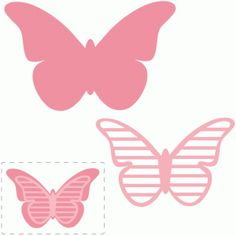 Silhouette Design Store - View Design #61693: stripe layered butterfly