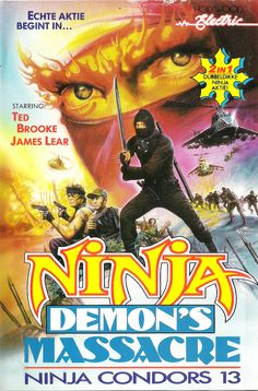 Ninja Demon's Massacre & Ninja Condors 13 (1988) #vhs #art #cover #80s #exploitation