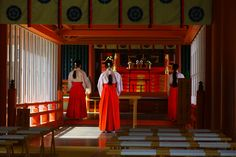 Miko (巫女), Shinto shrine maidens.