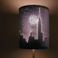 Create images by poking small holes in a dark lampshade ♥Follow us♥