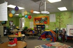 Love this camping classroom theme! Check out the website for more detailed pics. Classroom Layout, Classroom Decor Themes, Classroom Setting, Classroom Design, Classroom Organization, Classroom Ideas, Classroom Management, Organization Ideas, Classroom Pictures