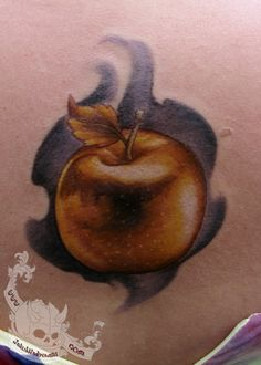 Apple Tattoo, Old Time Religion, Golden Apple, School Of Visual Arts, Tattoo Inspiration, Colored Pencils, I Tattoo, Body Art, Give It To Me